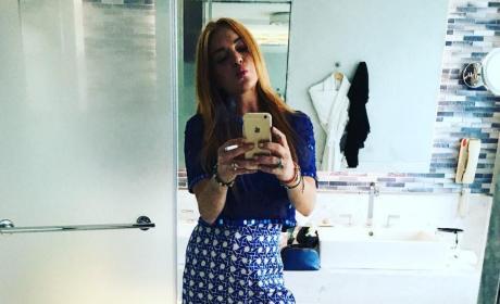 Lindsay Lohan: 50 Shades of Blue