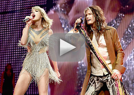 Taylor quick doesnt wish to skip a thing with steven tyler