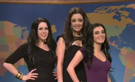 Kardashian Sisters Spoofed on SNL: Watch Now!