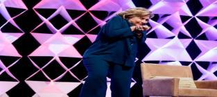 Hillary Clinton Avoids Thrown Shoe