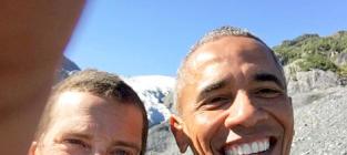 President Obama Snaps Selfie with Bear Grylls, Sticks It to PETA and Bristol Palin