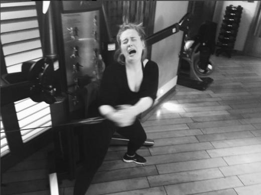 Adele Working Out