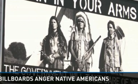 Native American Gun Billboard