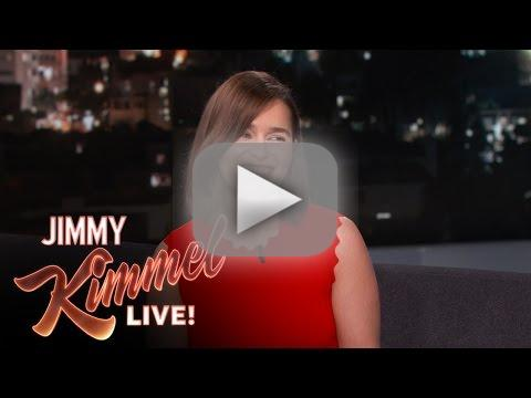 Emilia clarke talks likes a hollow lady on jimmy kimmel live