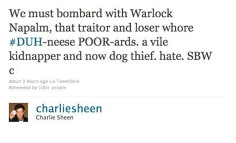 Charlie Sheen on Denise Richards: Dog Killer!!!