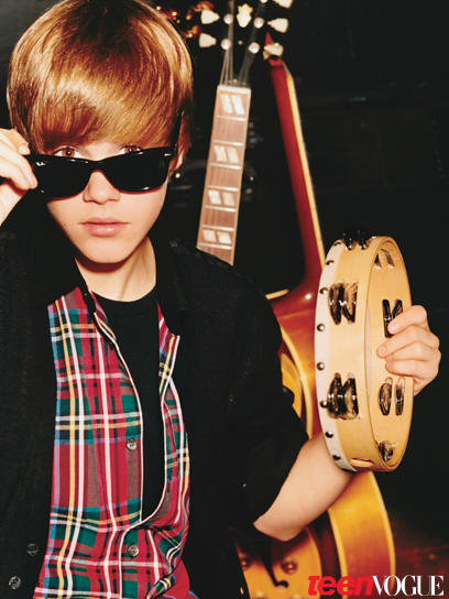 Justin Bieber in Teen Vogue