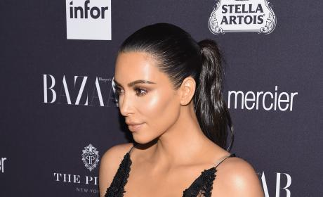 Kim Kardashian Wears Sheer