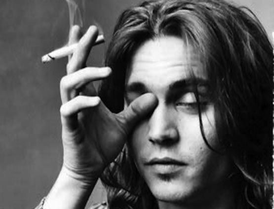 Johnny Depp Smoking