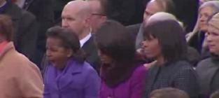 Sasha Obama Yawn Highlights Inauguration Day