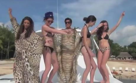 Kardashians Don Bikinis, Get Hypnotized on Family Vacation