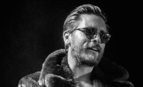 Scott Disick in a Fur Coat
