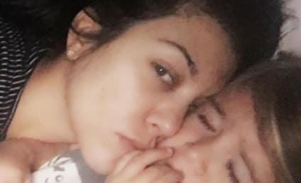 Kourtney Kardashian Goes Makeup-Free, Cuddles Daughter Penelope