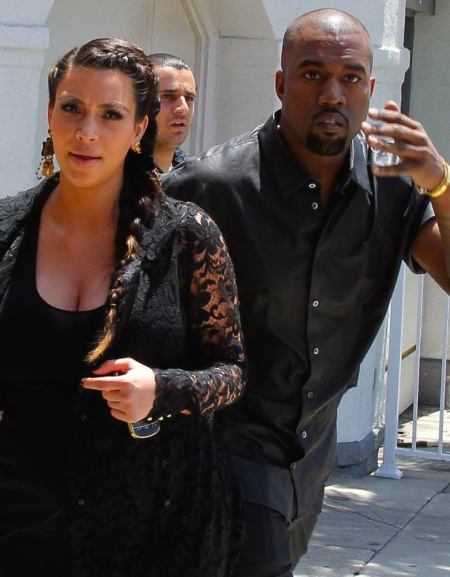 Kanye West Bangs Head