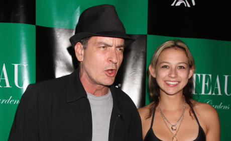 Natalie Kenly and Charlie Sheen Photo