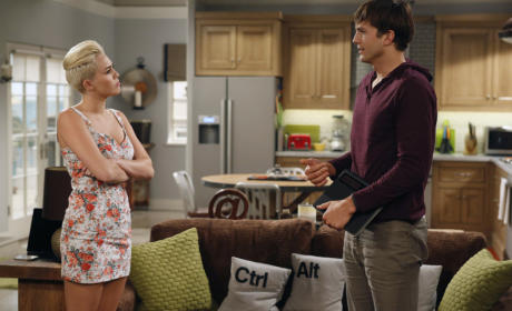 Miley on Two and a Half Men