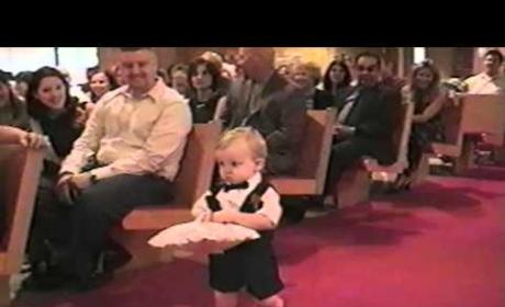 Adorable Ring Bearer Doesn't Grasp Concept of Being a Ring Bearer