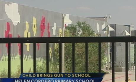 Seven-Year Old Brings Loaded Gun to Glass