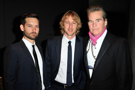 Val Kilmer, Owen Wilson and Tobey Maguire