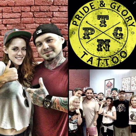 Kristen Stewart Tattoo Parlor Pic
