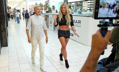 Britney Spears and Ellen DeGeneres Wreak Hilarious Havoc in Shopping Mall