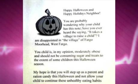 """Woman Hands Out Letters to """"Overweight"""" Children on Halloween Instead of Candy"""