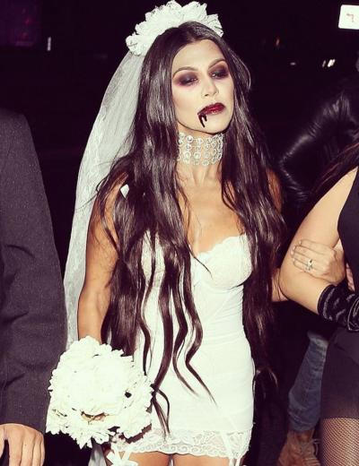 Kourtney Kardashian as a Vampire Bride