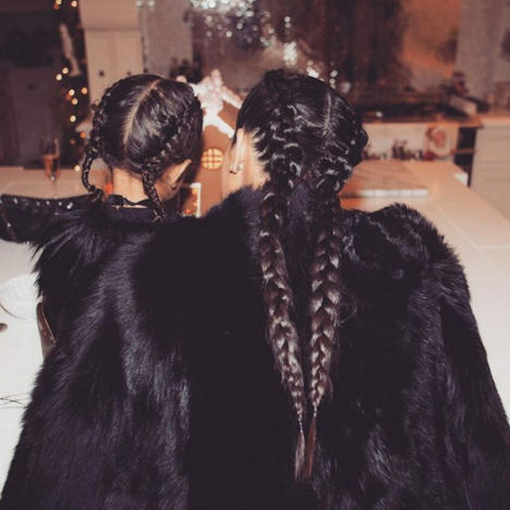 Braided Mom and Daughter