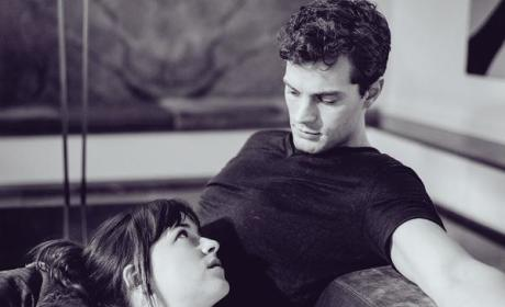 Dakota Johnson, Jamie Dornan Sex Stare
