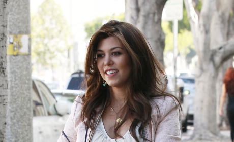Kourtney Kardashia with Dyed Hair