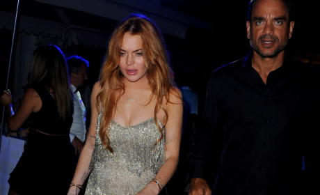 Lindsay Lohan: Falling Down Drunk in Italy!