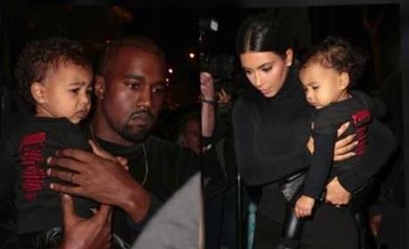 Kim and Kanye in Paris!