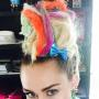 Miley Cyrus with Rainbow Dreadlocks