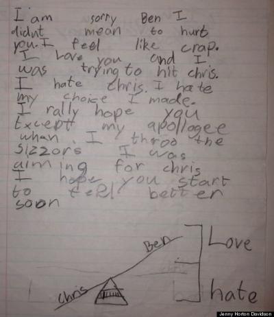 Hilarious Apology Note