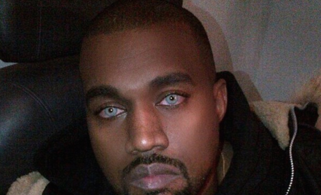 Kanye West with Blue Eyes
