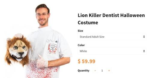 Cecil a Lion Killer Halloween Costume: So Funny or So Foul?