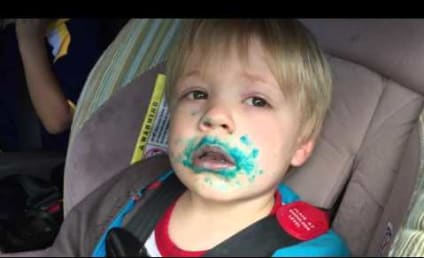 Frosting-Covered Toddler Denies Eating Cupcake
