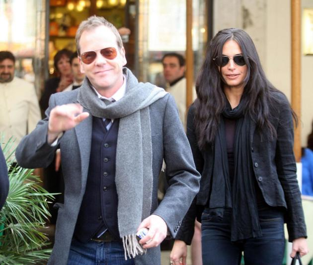 Kiefer Sutherland and Siobhan Bonnouvrier