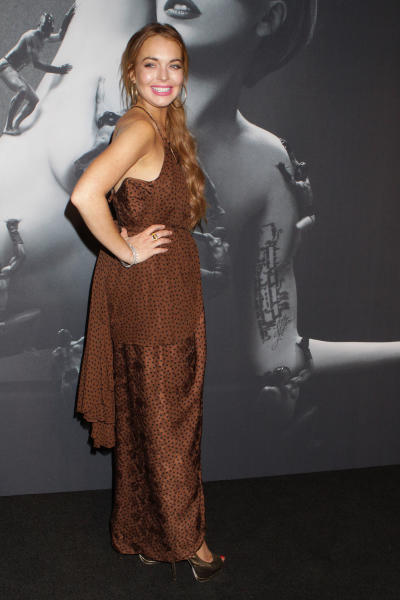 Lindsay Lohan Fragrance Launch Pic