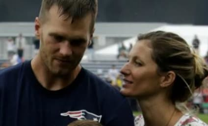 Gisele Bundchen, Son Benjamin Surprise Tom Brady at Training Camp
