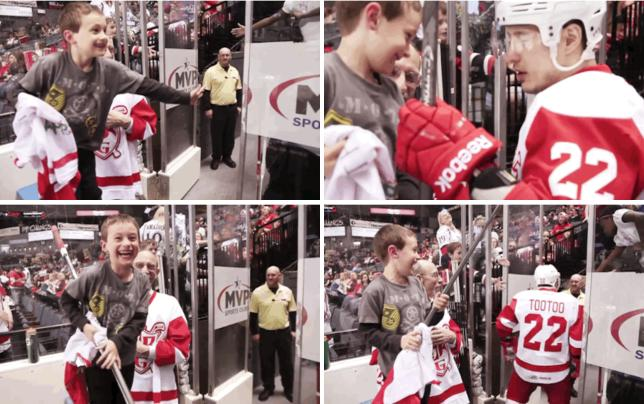 Jordin tootoo meets fan