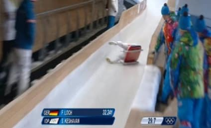 Shiva Keshavan Crashes on Luge Practice Run, Recovers, Somehow Finishes
