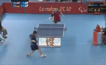 David Wetherill, Paralympic Games Table Tennis Player, Hits Shot of the Year