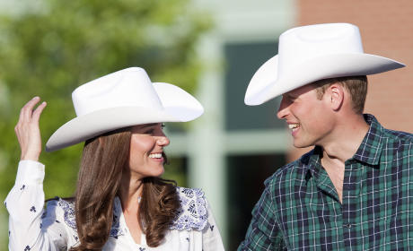 Kate and William in Cowboy Hats