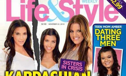 """Kim Kardashian Denies """"Ridiculous"""" Feud with Kourtney"""