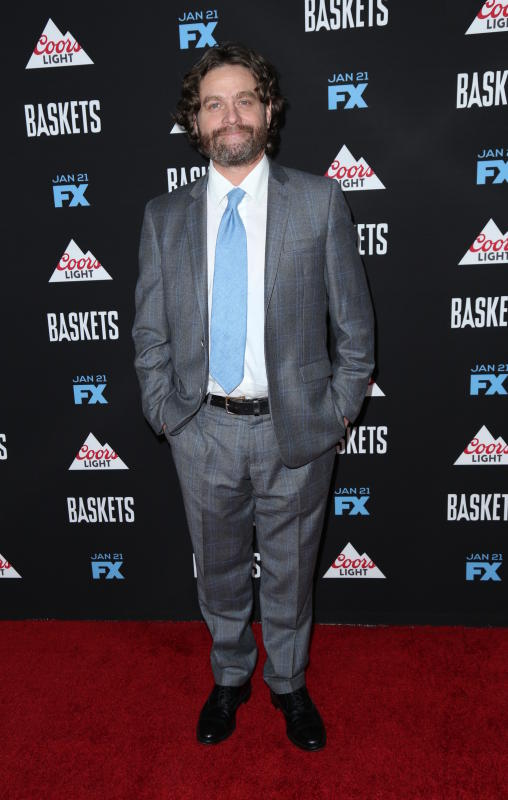 Zach Galifianakis: LA premiere of FX's 'Baskets'