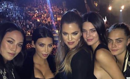 Kim Kardashian and Kompany: Hanging with Sam Smith!