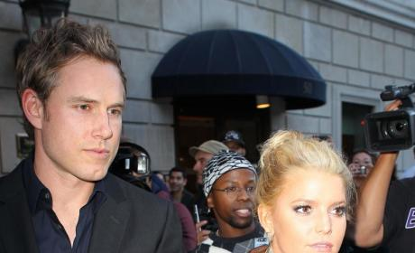 Jessica Simpson Debuts Clothing Line, Eric Johnson