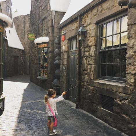 Penelope Disick at Universal Studios