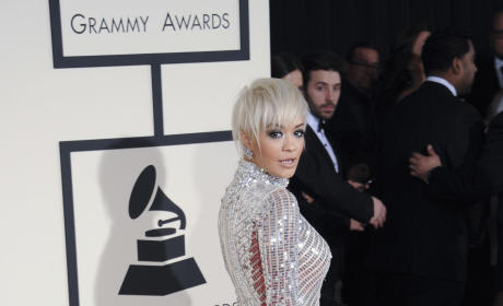 Rita Ora at the 2015 Grammys