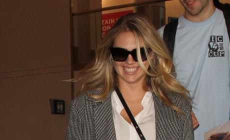 Kate Upton Lands at LAX